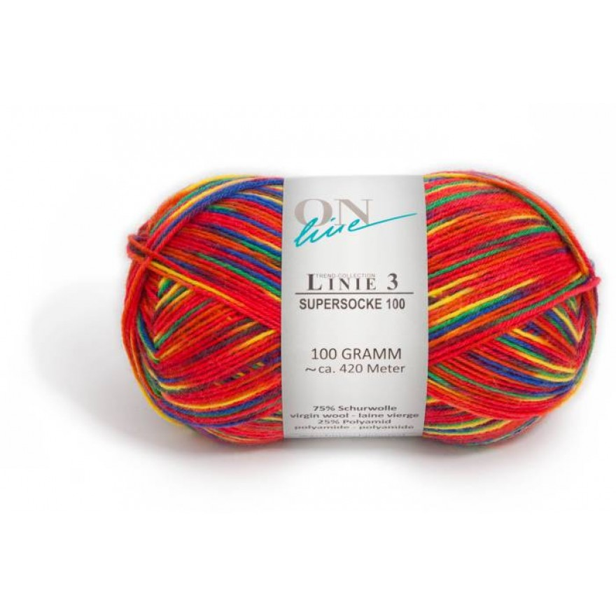 LINIE 3 SUPERSOCKE COLOR 100
